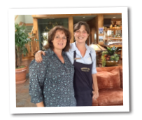 Guest and staff member